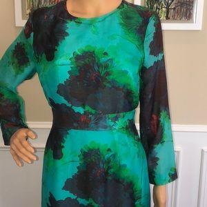 J Crew floral print silk dress